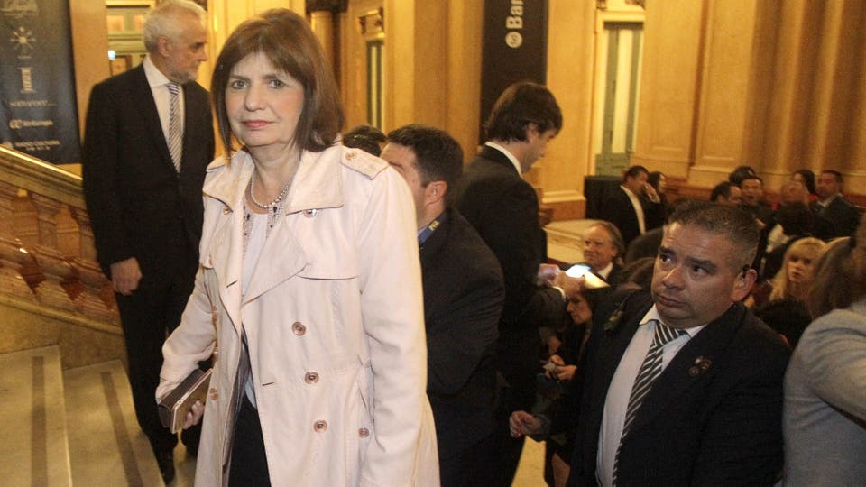 La ministra de Seguridad, Patricia Bullrich. Foto: DyN