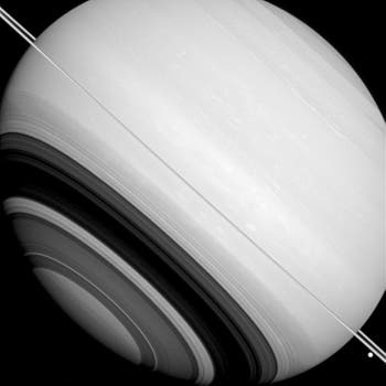 Imagen de Saturno tomada por Cassini en agosto de 2014. Foto: AP