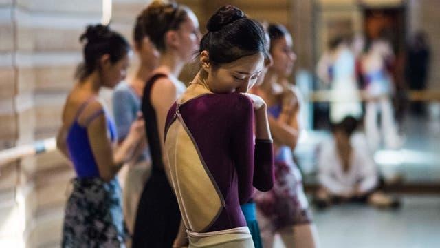 La bailarina surcoreana Eunsil Kim en un ensayo de Romeo y Julieta