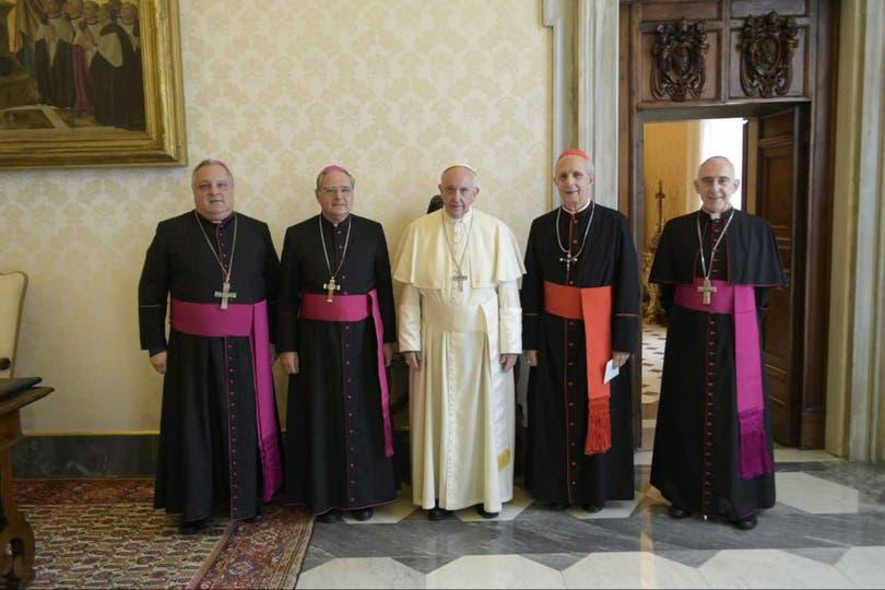 La comisión ejecutiva de la CEA se reunió hoy con el Papa en la Biblioteca del Palacio Apostólico