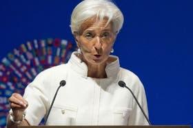 Christine Lagarde, la titular del Fondo Monetario Internacional