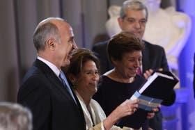 Ricardo Lorenzetti, Elena Highton de Nolasco y Aída Kemelmajer de Carlucci, en la presentación del anteproyecto de reforma del Código Civil