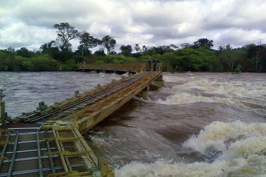 La zona del Garganta del Diablo, en las Cataratas del Iguazú permanece cerrada al público. Foto: AFP
