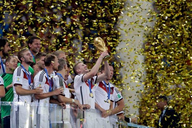 Alemania se coronó campeón de la Copa del Mundo.  Foto:AP