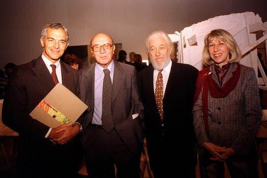 Muestra retrospectiva del arquitecto en el Museo Nacional de Bellas Artes, abril de 1999. Foto: Archivo