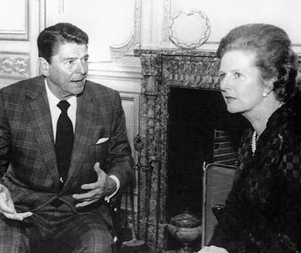 El 4 de junio de 1982, en París, se reunio con Ronald Reagan presidente de EE.UU, para discutir los últimos movimientos durante la guerra de las  Malvinas. Foto: Archivo
