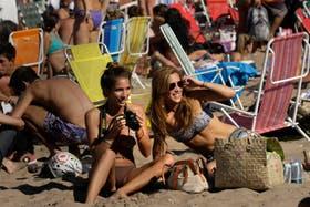Playa Grande, ayer, como el mejor día de enero