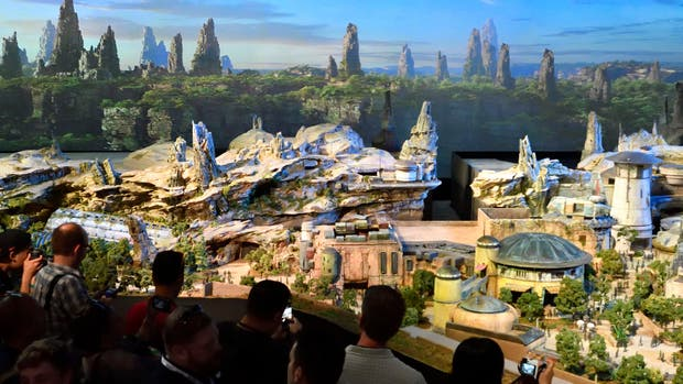 La maqueta 3D de Star Wars Land
