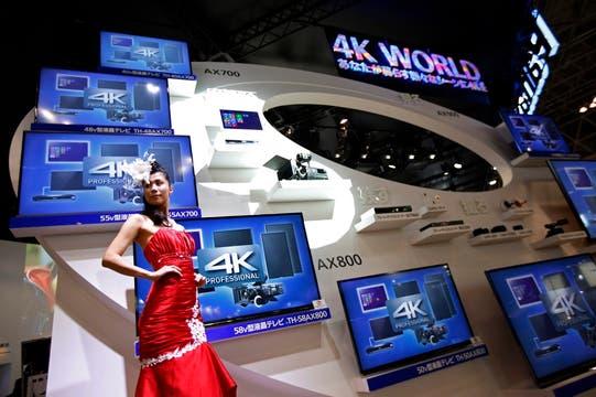 Los televisores 4K también estuvieron presentes en la feria de electrónica de consumo más grande de Japón. Foto: Reuters