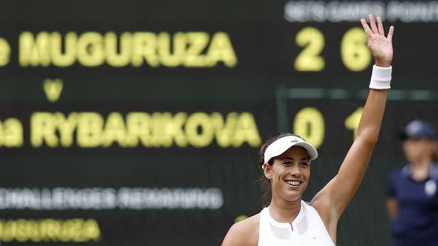 Muguruza logró una fácil clasificación a la final de Wimbledon