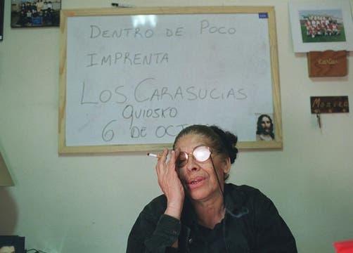 Mónica Carranza, en 1999. Foto: Archivo