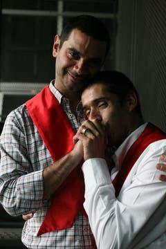 Axel y José María también presenciaron el debate. Foto: LA NACION / Miguel Acevedo Riú