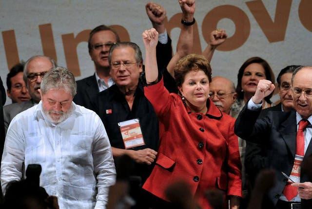 Dilma y Lula, juntos en un acto reciente del PT
