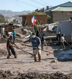 Trabajos en Paipote (Norte), tras las crecidas