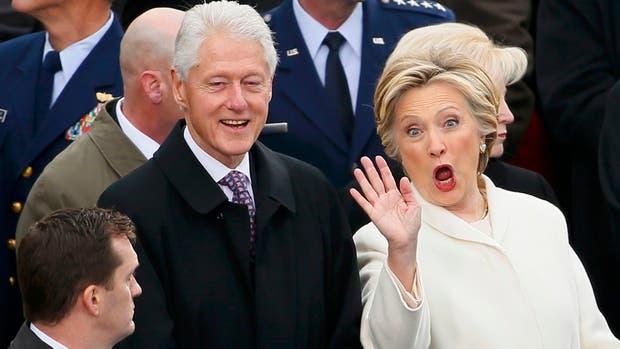 ¿Hillary descubrió a Bill Clinton mirando a Melania Trump?
