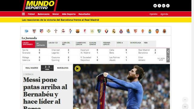 El diario Mundo Deportivo, de Barcelona. Foto: Archivo