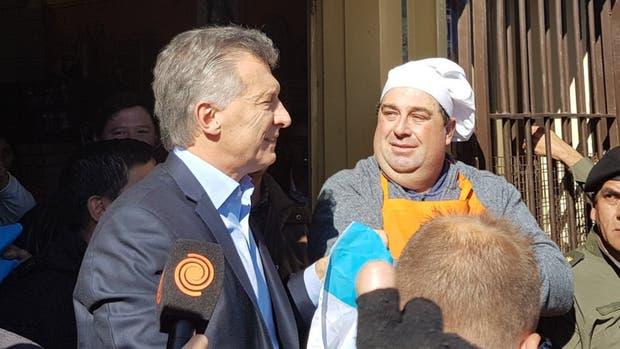 Macri almorzó con un hombre que tiene un comedor social