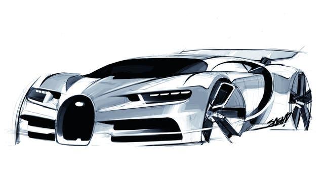 Boceto del Bugatti Chiron