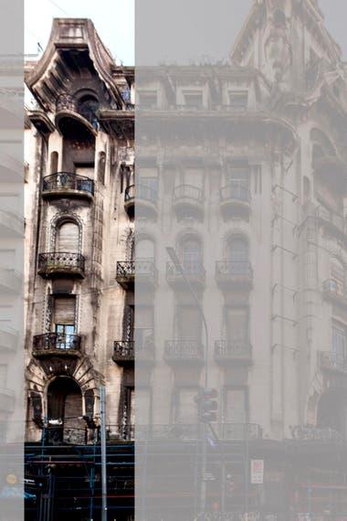 Los trabajos del proyecto piloto se realizarán en este sector de la fachada, sobre la avenida Rivadavia