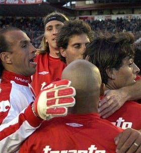 Celebran Navarro Montoya, Frutos, Manrique, Martínez y Carrizo; el DT Santoro quedó satisfecho