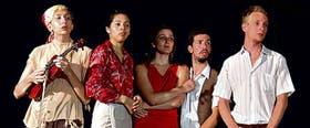 Albalustri, Canteros, Segalini, Gulluni y Benedetto, los actores que interpretan al elenco ruso