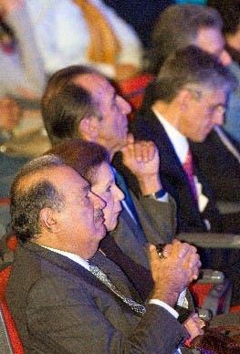 Slim, en un encuentro de Telmex