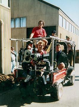James Cameron, montado en una cámara móvil. Foto: Gentileza Luis Incisa