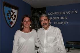 Aníbal Fernández, ayer, con la nueva vicepresidenta, Sandra Isola