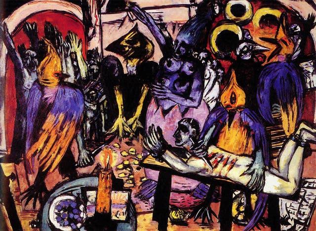 Hoelle der Voegel, la obra de Max Beckmann que fue récord