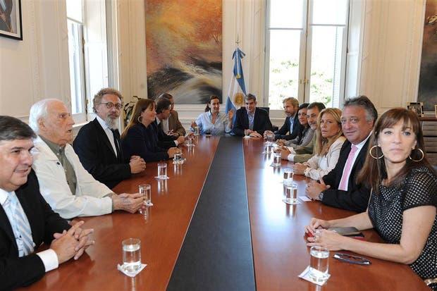 Michetti, Peña y Frigerio fueron ayer los anfitriones de los legisladores