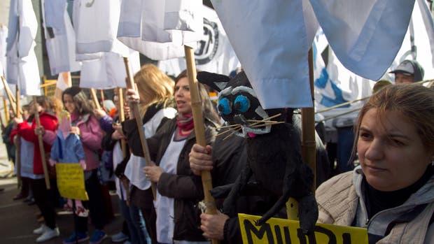 El martes los docentes porteños marcharon para pedir la reapertura de paritarias