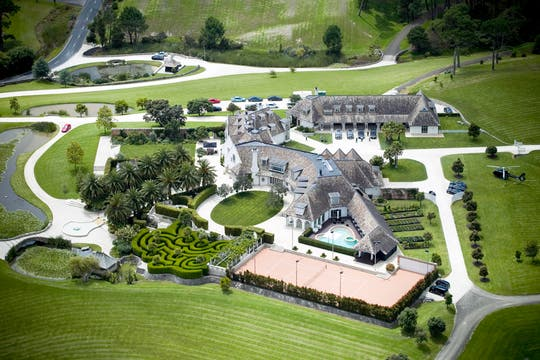 Una foto aérea de la deslumbrante mansión. Foto: AP
