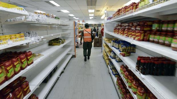 Supermercados desabastecidos en Venezuela