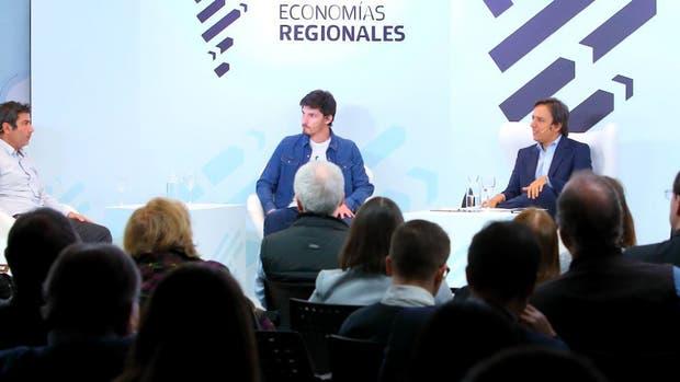 Leandro Merlo (Arytza), Martín Carro (Pura Frutta), José Del Rio (LA NACION), Lucila Bonzi (Almandina) y Luis Robbio (Belatrix)