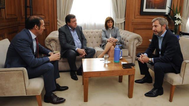 Frigerio se reunió esta semana con la ministra de Seguridad, Patricia Bullrich, y con los gobernadores de Neuquén, Omar Gutiérrez, y de Río Negro, Alberto Weretilneck