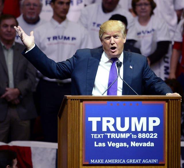 Donald Trump en Las Vegas, Nevada