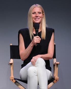 Gwyneth Paltrow disertó en Apple store, se ve que es fan de la marca de Steve Jobs. Foto: AFP