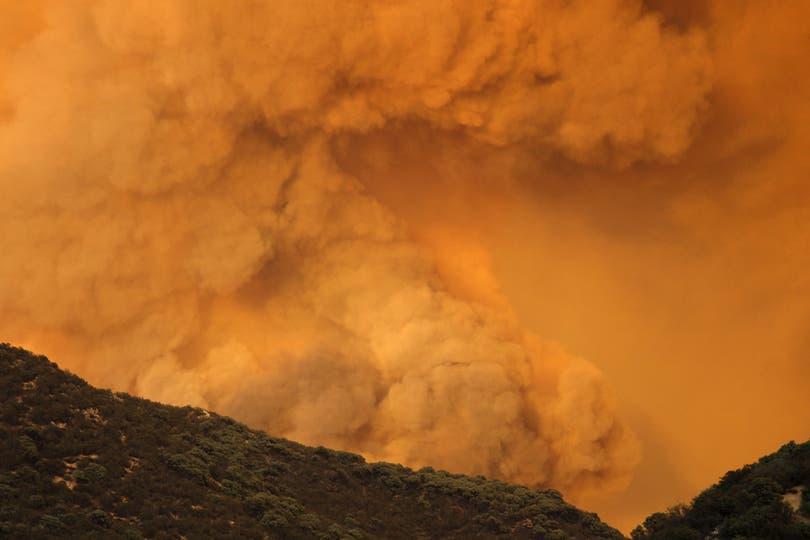 La sequía y los fuertes vientos fueron factores importantes para que el incedio cobrara grandes proporciones. Foto: AFP
