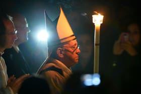 El papa Francisco, al inicio de la ceremonia