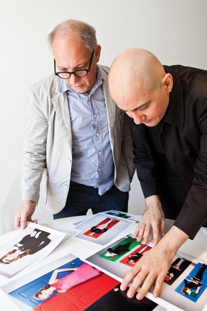 En el estudio del diseñador Horacio Gallo, con quien piensan los catálogos, la papelería, la estética de la marca y otras intervenciones de Ramírez..  Foto:Living /Santiago Ciuffo