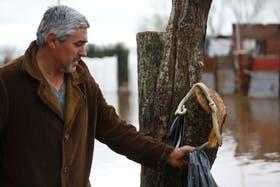 Oscar Villalba, vecino del barrio Marchetti de la localidad de Mercedes