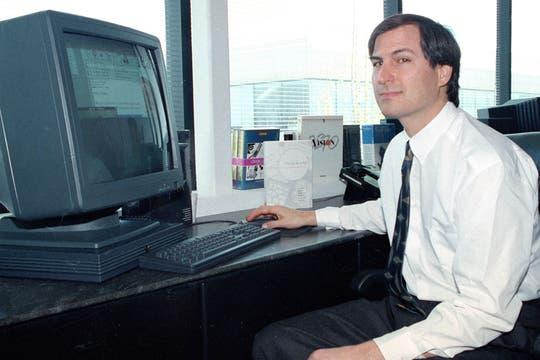 En 1991 en NeXt, la compañía que fundó tras ser despedido de Apple a mediados de los 80. Foto: AP