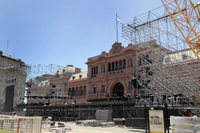 El Gobierno ultimó hoy los detalles para el festival de mañana en Plaza de Mayo