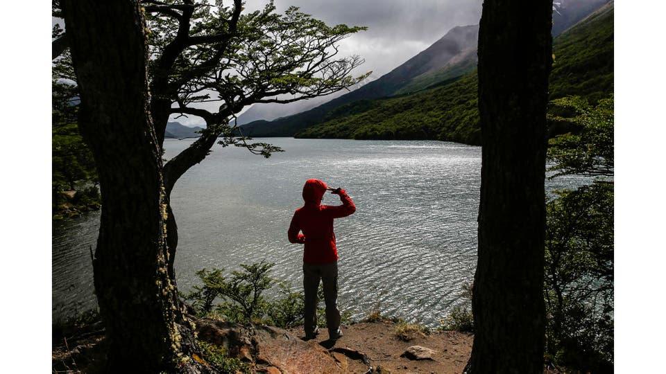 Vista de Lago del Desierto. El conflicto territorial con Chile por este espejo de agua fue uno de los motores para el surgimiento de la localidad de El Chalten. Foto: LA NACION / Emiliano Lasalvia