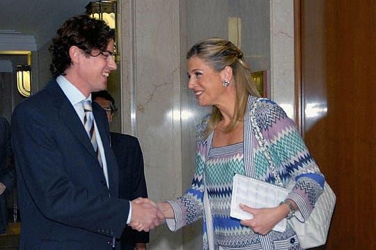 En 2008, Máxima vino como asesora de la ONU y se reunió con Lousteau, dos días antes de su renuncia. Foto: Archivo