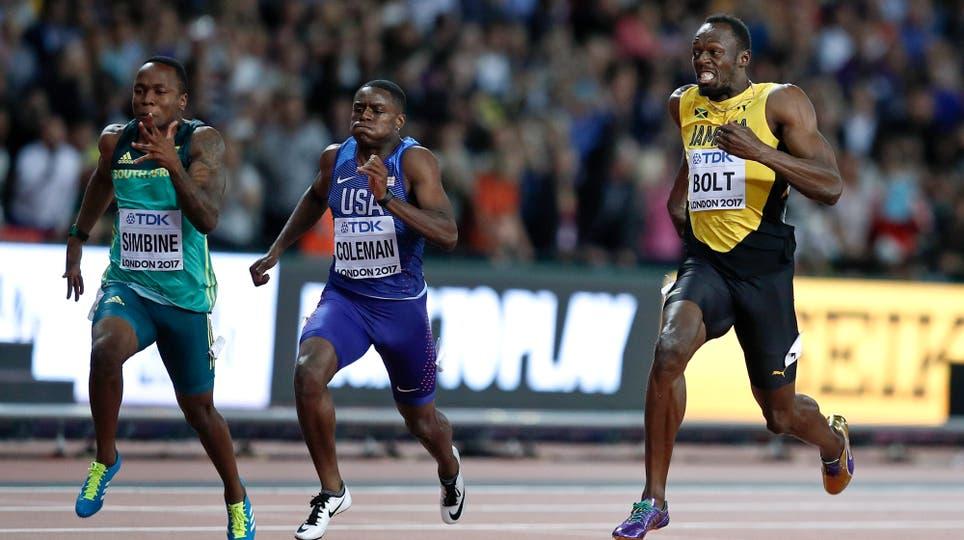 En su última carrera de los 100 metros, Usain Bolt fue tercero y ganó Justin Gatlin. Foto: Reuters / Phil Noble