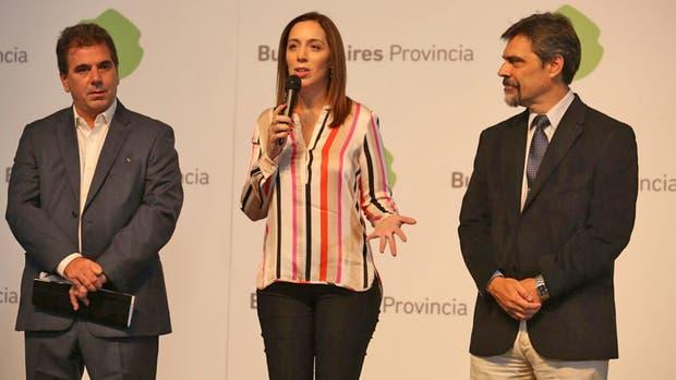 Conferencia de prensa de María Eugenia Vidal
