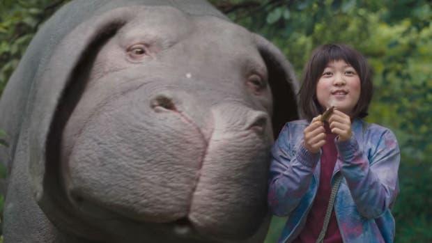 La película cuenta la relación entre un gigantesco cerdo mutante y la niña coreana decidida a salvarlo