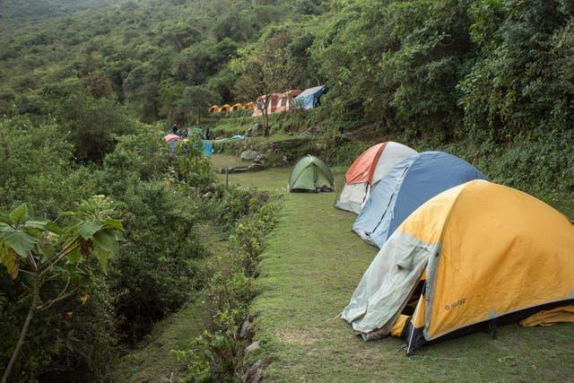 Campamento. Foto: Luis Agote