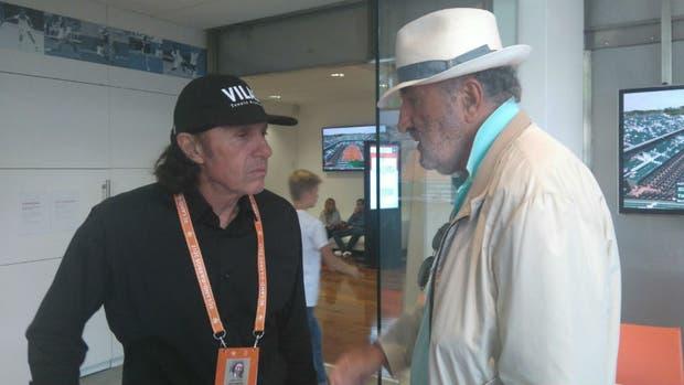 Vilas, con Tiriac en Roland Garros